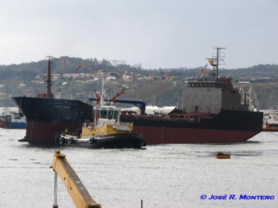 Traslado del buque al Muelle del Este para la fase de armamento y pruebas.