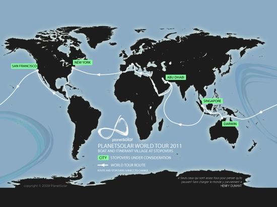 Vuelta al mundo que realizará en 2011